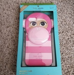 Kate spade pink monkey silicone case